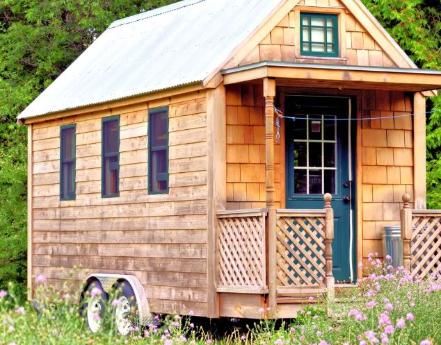 A tiny home on wheels