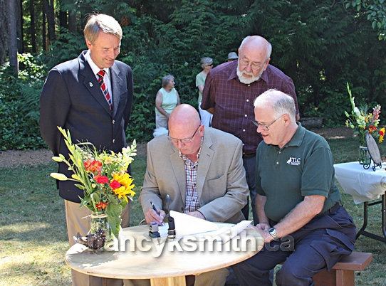 Photo of Signing The Conservation Covenant July 15, 2008 To Preserve The Heritage Forest In Perpetuity.